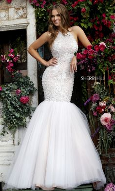 Shop Sherri Hill prom dresses and pageant gowns at PromGirl. Prom and pageant dresses, formal evening gowns for special occasions. Prom Sherri Hill, Designer Prom Dresses, Prom Dresses For Sale, Homecoming Dresses, Stunning Wedding Dresses, Beautiful Gowns, Beautiful Mermaid, Tulle Prom Dress, Bridal Dresses