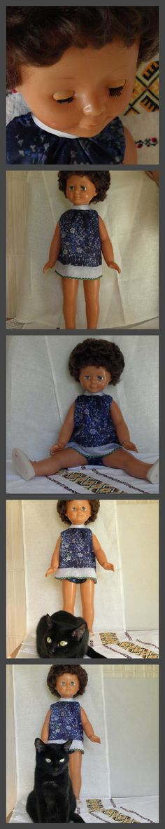 These two are going to celebrate Halloween! The doll is about 65 years old. She is German. May be purchased for Halloween decorations.