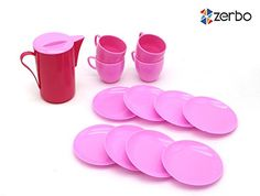 ZERBO 14 Piece Mini Dinnerware Serving Play Set for Kids *** This is an Amazon Affiliate link. Read more reviews of the product by visiting the link on the image.