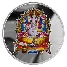 Swiss 20g Gram Silver Lord Ganesh Coin 999.0