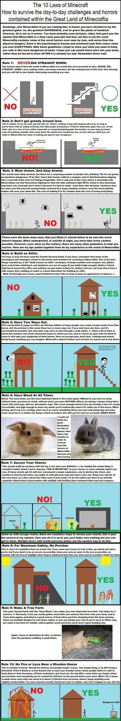 The 10 laws of Minecraft