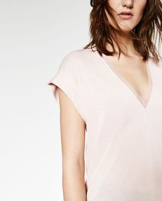 Image 4 of TULLE DETAIL T-SHIRT from Zara