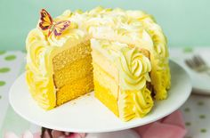 Lemon ombre layer cake recipe - goodtoknow
