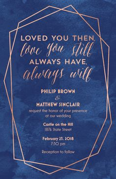 Loved You Then... Invitation | Weddings by Vistaprint Garden Wedding, Dream Wedding, Wedding Day, Wedding Dreams, Personalized Invitations, Personalized Items, Wedding Events, Wedding Reception, Rsvp