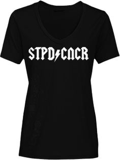 9f77540bb98 Stupid Cancer Girls Black Bolt V-Neck Shirt - Stupid Cancer Stupid Cancer
