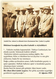Atatürk Kastamonu dönüşü Çankırı'da. 31.08.1925