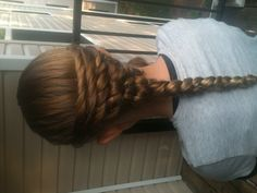 I forgot about this hair style. Basket Weave Braid, Braided Hairstyles, Wedding Hairstyles, Cool Braids, Hair Dos, Hair Inspiration, Fashion Models, Curls, Hair Makeup
