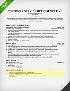 Skills On Customer Service Resume | resume was written or ...