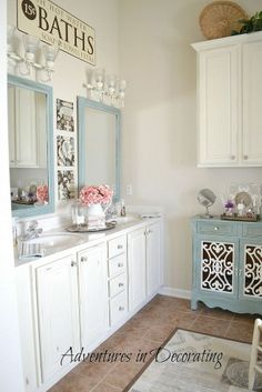 Repaint & update your bathroom to reflect your changing tastes.