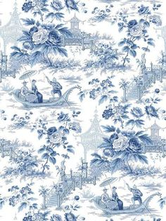 toile with a Chinoiserie: