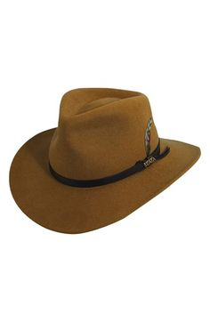 Men's Scala 'Classico' Crushable Felt Outback Hat - Brown
