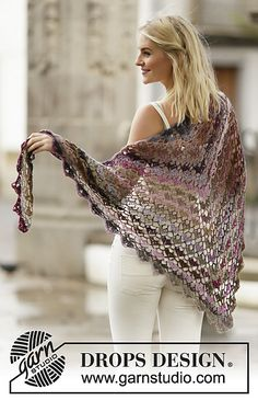 Ravelry: 162-12 Evening Breath pattern by DROPS design - free crochet pattern available in many languages