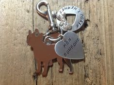 Two French Bulldogs Custom Keychain Dog Lover Frenchies by tagsoup, $27.00