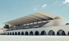 Eduardo Torroja - El Hipódromo de La Zarzuela de Madrid, 1935