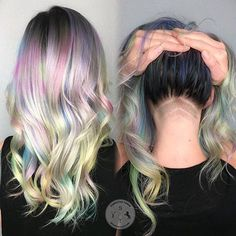 Pastels and Mini Undercuts by @deathbycouture Because bold isn't always the way to go. Lightened with Magic Lightener, colored with Kenra Metallics and Arctic Fox. Styled with Amazon Series. #esteticalikes #pastelhair #metallichair #hairfashion