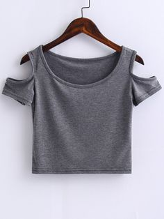 41 ideas t-shirt outfit summer grey Fashion Mode, Teen Fashion, Fashion Outfits, Womens Fashion, Fashion Styles, Cute Crop Tops, Cropped Tops, Summer Outfits, Casual Outfits