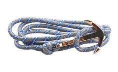 The Art Grey Gold Anchor & Rope Bracelet