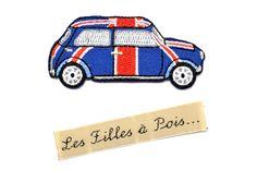 """Ecusson voiture rétro anglais """"Mini Austin"""" thermocollant - 67*32mm : Déco, Customisation Textile par les-filles-a-pois"""