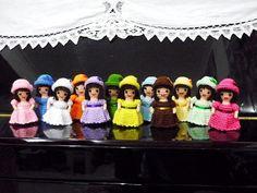 Crochet Amigurumi Little Missy  12 pcs Finished by DarmianiCrochet, $125.00