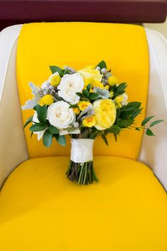 Yellow & White Bridal Bouquet