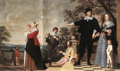 1645 OOST, Jacob van, the Elder  Portrait of a Bruges Family  Oil on canvas, 150, 5 x 255,5 cm  Groeninge Museum, Bruges