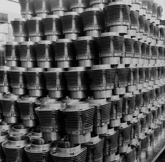 PHOTOBOOK: VOLKSWAGEN - A WEEK AT THE FACTORY (1953) by Peter Keetman | Part 4 of 5 : 'Heavy Metal Overdose' Shavings shine like precious metal; bolts of cable look like exotic plants; photographed by Peter Keetman, sheet metal takes on a life of its...