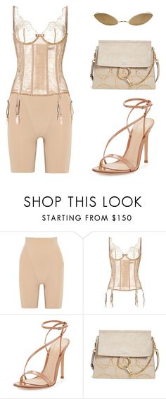 """""""#772"""" by babygyal09 ❤ liked on Polyvore featuring SPANX, Maison Close, Gianvito Rossi, Chloé and Acne Studios"""
