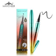 Only $3.03 , MAYCHEER Brand Makeup Black Liquid Eyeliner Pencil Waterproof 24H Long-lasting Anti-blooming Accurate Draw Eye Liner Pen Make Up