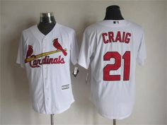 Cardinals #21 Allen Craig White New Cool Base Stitched MLB Jersey