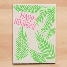 Gold Teeth Brooklyn's cards are individually hand torn and screen printed in Los Angeles, ensuring that every item is truly one-of-a-kind. Greeting Card Companies, Greeting Cards, Gold Teeth, Flamingo, Screen Printing, All Things, Happy Birthday, Palms, Prints
