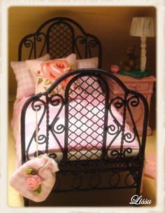 miniature shabby chic twin bed