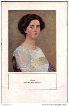 Bildnis - Druck, entnommen aus Velhagen und Klasings- Monatsheften, 1916