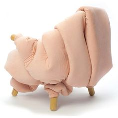 Flesh Chair wrapped in squishy rolls of fat by Nanna Kiil