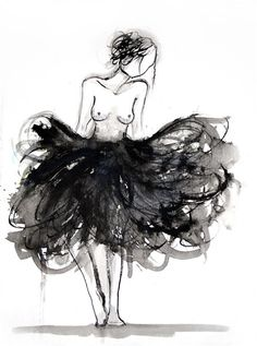 Illustration art, Bella donna ballerina by Jacqueline Tamm