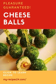 Cheese balls - My favorite recipes Cold Appetizers, Easy Appetizer Recipes, Healthy Appetizers, Appetizers For Party, Easy Healthy Recipes, Vegetarian Recipes, Easy Meals, Appetizer Ideas, Delicious Recipes