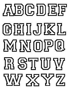 Moldes grandes de letras mayusculas para imprimir - Imagui                                                                                                                                                                                 Más