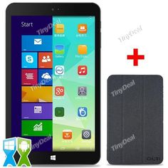 "CHUWI Vi8 8"" IPS Screen Win8.1 Android 4.4 Intel Z3735F Dual OS 2GB 32GB Tablet PC w/ Bluetooth 4.0 + Case KB-376842"