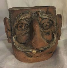 Whimsical Face Pottery by Unknown Artist