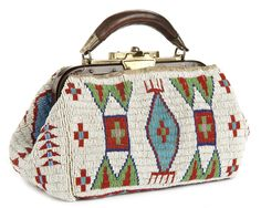 Flat-bottomed bag owned by Chief Red Fox, Standing Rock Indian Reservation, North Dakota and South Dakota.