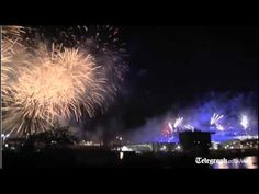 Huge fireworks display marks  London 2012 Olympic opening ceremony