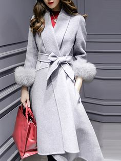 Shop Grey Lapel Tie-Waist High Low Pockets Coat online. SheIn offers Grey Lapel Tie-Waist High Low Pockets Coat & more to fit your fashionable needs.