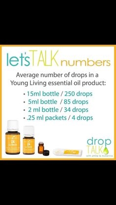How many drops in a bottle of essential oils