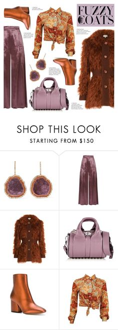 """""""Fuzzy Fall"""" by goldenopal ❤ liked on Polyvore featuring Kimberly McDonald, Temperley London, Isa Arfen, Alexander Wang and Salvatore Ferragamo"""