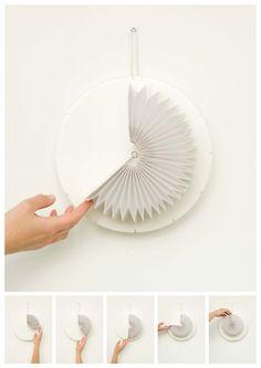 Minuteur en origami, design Eva Rielland (Elle Deco Lab)