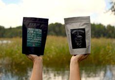 Freshly roasted organic coffees.