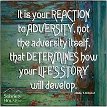 It is your reaction to adversity, not the adversity itself, that determines how your life's story will develop. ~ Dieter F. Great Quotes, Quotes To Live By, Inspirational Quotes, Fabulous Quotes, Sign Quotes, Me Quotes, Adversity Quotes, Spurgeon Quotes, Speak Life