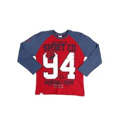 Camiseta Manga Longa Infantil para Menino - Vermelha - Lojas Pompeia