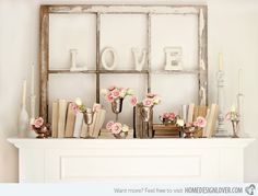 15 Ways to Decorate Your Mantles This Valentine's Day | Home Design Lover