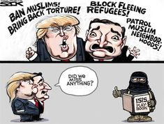 Judicial activism vs judicial restraint essay help Read Full Essay Need writing help? Judicial Restraint Judicial activism and judicial restraint are two opposing philosophies when it. Trump Cartoons, Funny Cartoons, Recent Political Cartoons, Political Satire, Donald Trump, Religion And Politics, My Opinions, We The People, Muslim