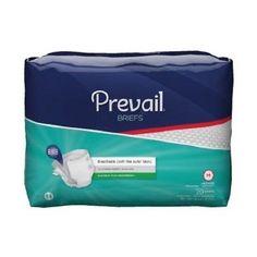 NEW! Prevail Premium Briefs Medium 32-44in Heavy Absorbency 80/Case - 10 Pack